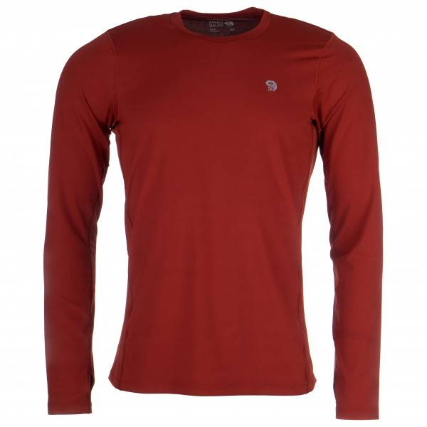 Mountain Hardwear - Ghee Long Sleeve Crew - Sous-vêtement synthétique taille L, rouge