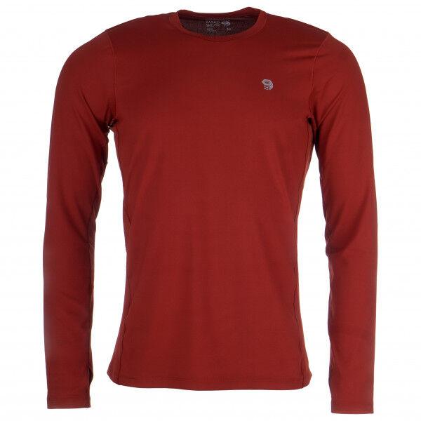 Mountain Hardwear - Ghee Long Sleeve Crew - Sous-vêtement synthétique taille L;M;XL, gris;rouge