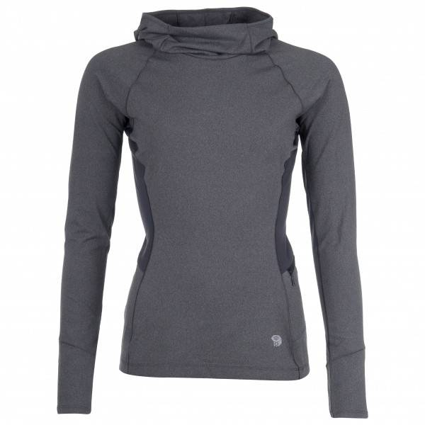 Mountain Hardwear - Women's Ghee Long Sleeve Hoody - Sous-vêtement synthétique taille XS, noir/gris