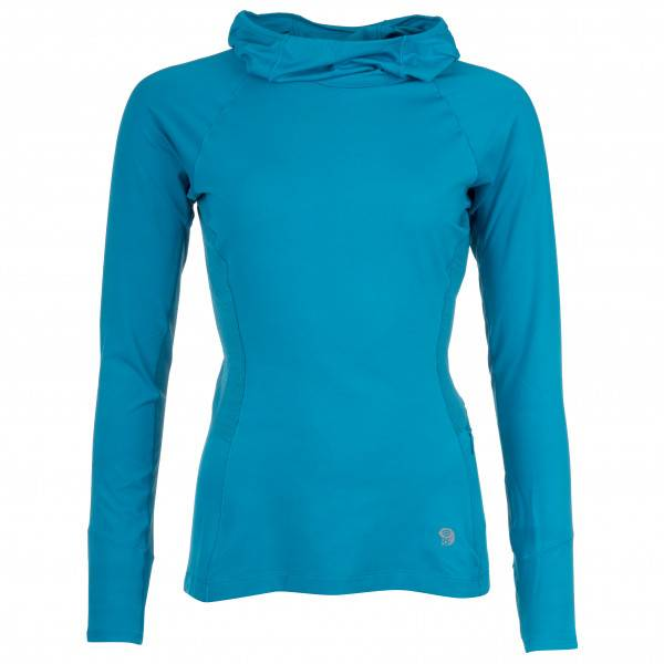 Mountain Hardwear - Women's Ghee Long Sleeve Hoody - Sous-vêtement synthétique taille L;M;S;XL;XS, bleu;noir/gris