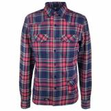 Alprausch - Tanne-Tobi Shirt - Chemise taille S, violet/gris/bleu