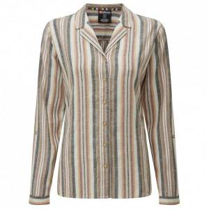 Sherpa - Women's Kiran Long Sleeve Shirt - Chemisier taille XL, gris/beige
