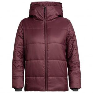 Icebreaker - Women's Collingwood Hooded Jacket - Veste d'hiver taille M, rouge/violet