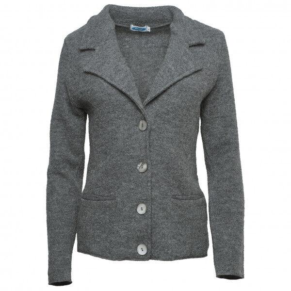 Reiff - Women's Kreppblazer Ella - Veste en laine taille L, gris/noir
