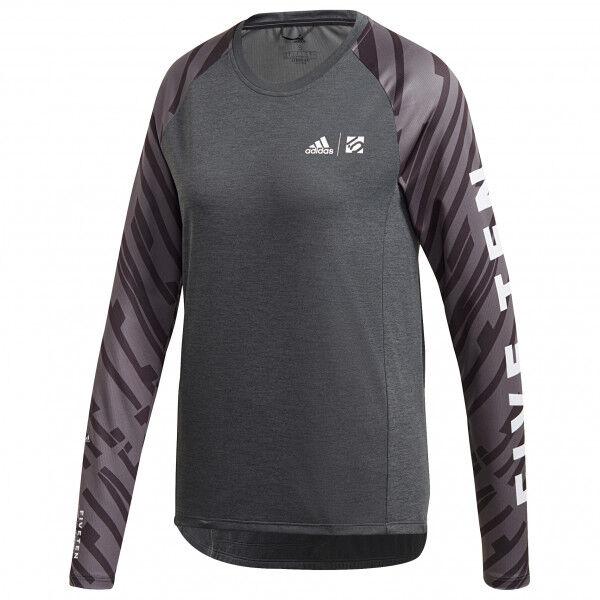 adidas - Women's Trailcross L/S - Maillot de cyclisme taille M, noir/gris