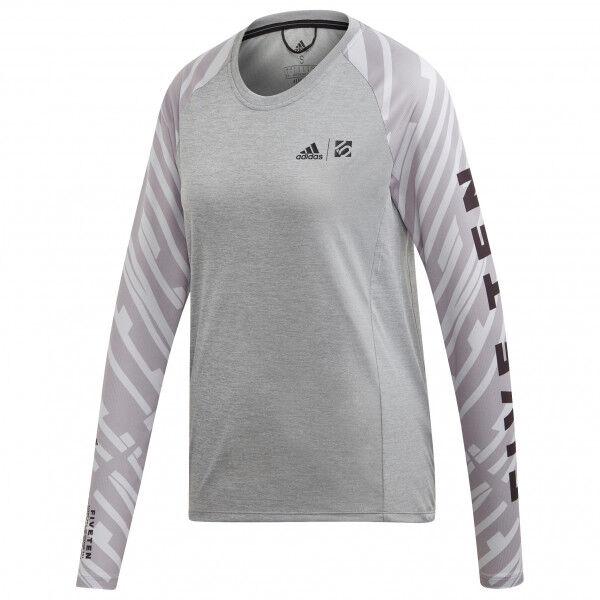 adidas - Women's Trailcross L/S - Maillot de cyclisme taille M, gris
