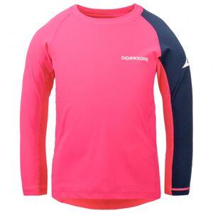 Didriksons - Kid's Surf Longsleeve UV Top 3 - Lycra taille 120, rose/rouge