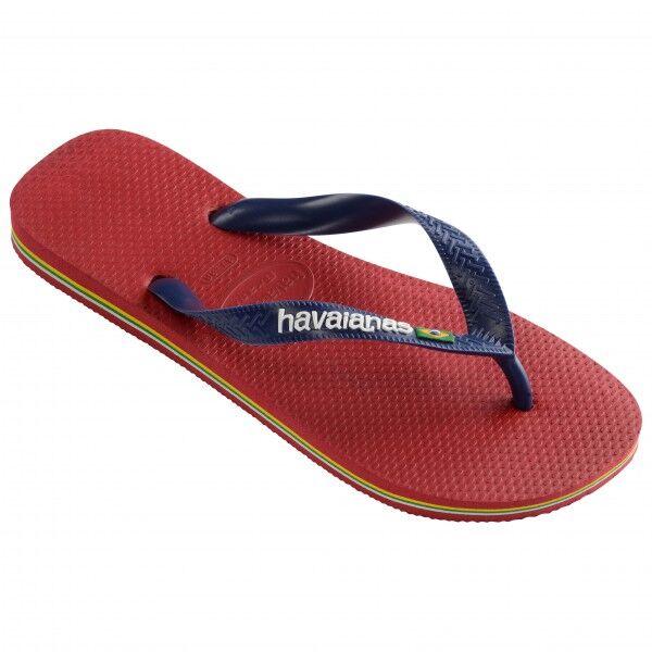 Havaianas - Brasil Logo - Sandales de marche taille 45/46, rouge/rose