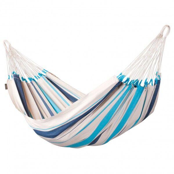 la siesta - caribena - hamac taille basic, gris/blanc