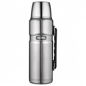 Thermos - Isolierflasche King - Bouteille isotherme taille 0,47 l, gris/noir