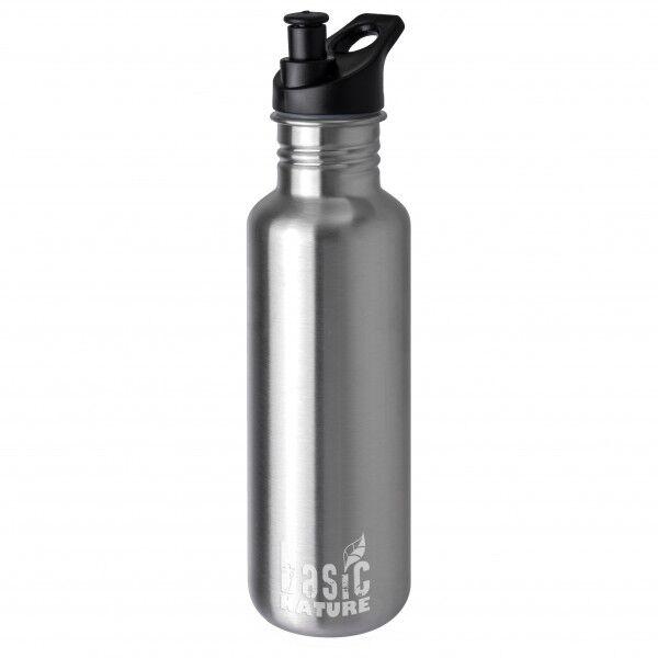Basic Nature - Trinkflasche Sport - Gourde taille 1,2 l, gris/noir