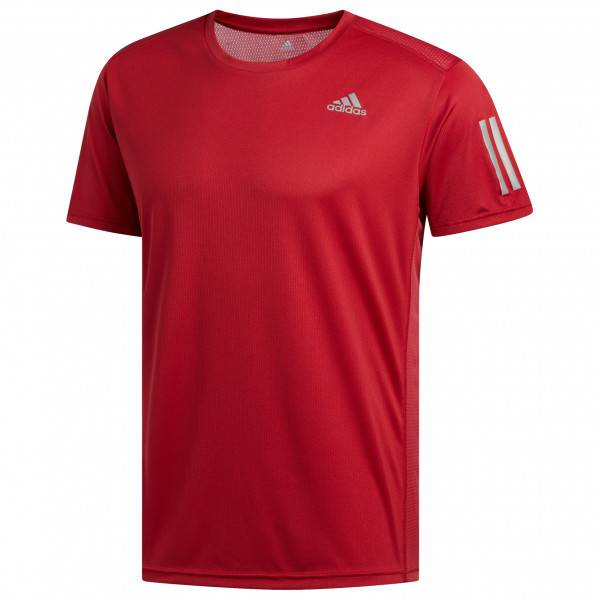 adidas - Own The Run Tee - T-shirt technique taille M, rouge