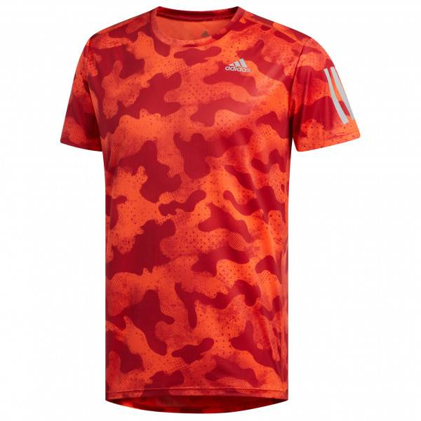 adidas - Own The Run Tee - T-shirt technique taille S, rouge