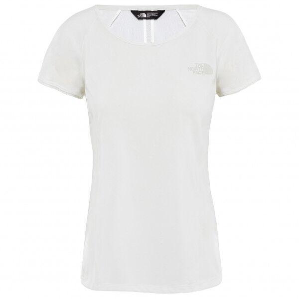 The North Face - Women's Hikesteller S/S - T-shirt technique taille XL, blanc/gris