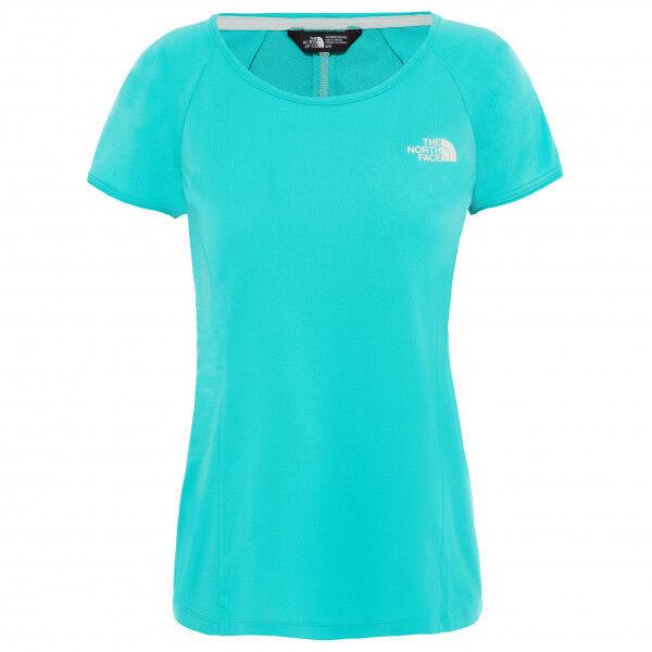 The North Face - Women's Hikesteller S/S - T-shirt technique taille L;XL, blanc/gris;turquoise