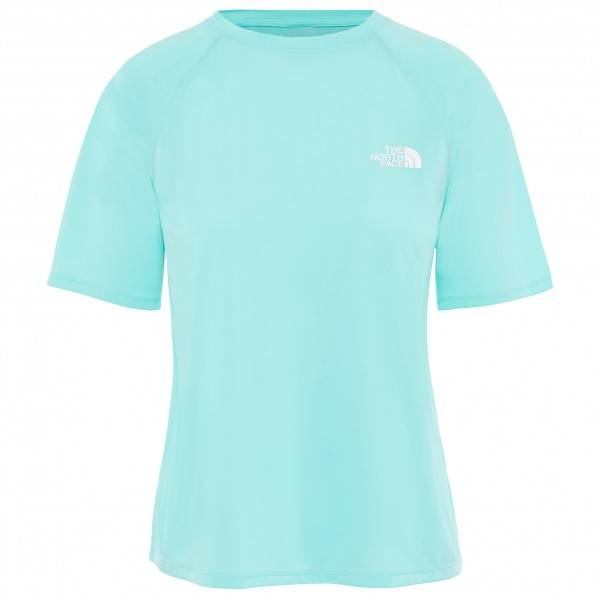 The North Face - Women's Train N Logo S/S - T-shirt technique taille XS, turquoise