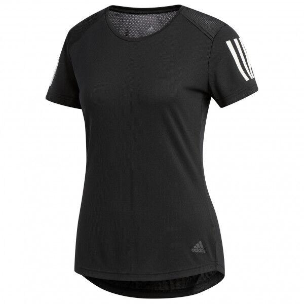 adidas - Women's Own The Run Tee - T-shirt technique taille XXS, noir