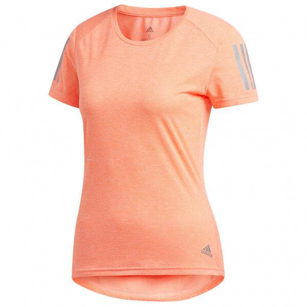 adidas - Women's Own The Run Tee - T-shirt technique taille XXS, beige/orange