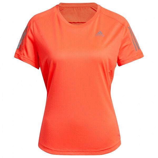adidas - Women's Own The Run Tee - T-shirt technique taille L;M;S;XL;XS;XXS, noir;beige/orange