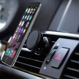 GadgetBay Support de voiture pour téléphone, aimant universel - iPhone - Samsung - Noir