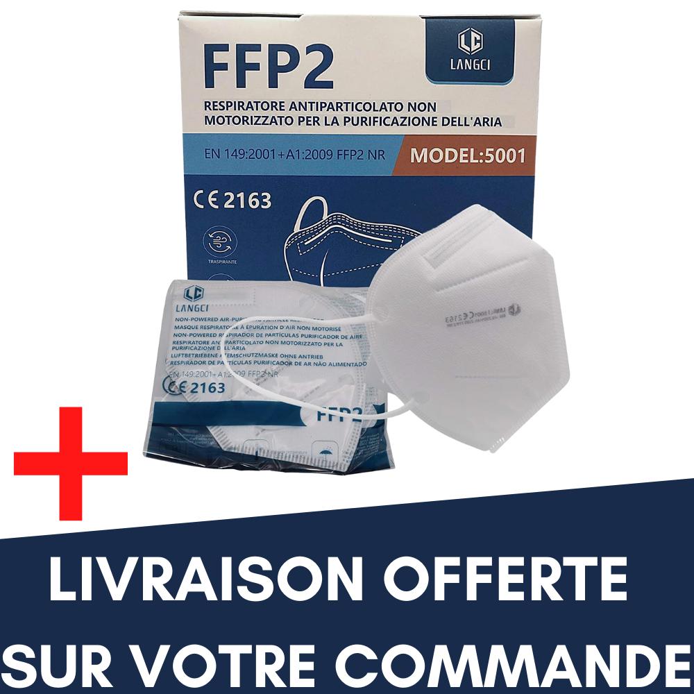 Masques et gants 10 x Masques FFP2 + Livraison Offerte de votre commande !