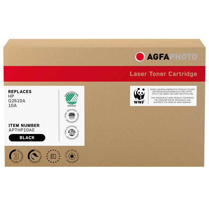 Agfa Photo Compatible avec HP 10A (Q2610A) Agfa Photo APTHP10AE Toner Noir