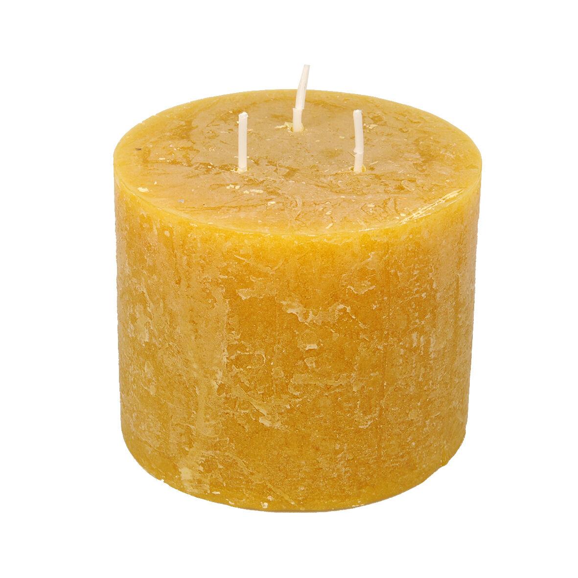 Dille&Kamille Grande bougie ronde, moutarde,Ø 12 cm