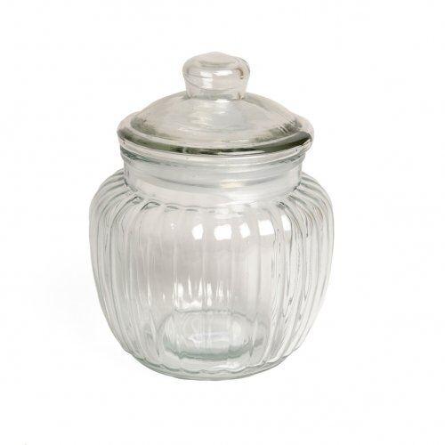 Dille&Kamille Bocal, verre, cannelé, 0,5 litres