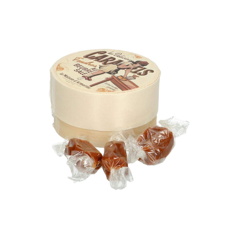 Dille&Kamille Caramels dans une petite boîte en bois, 50 g