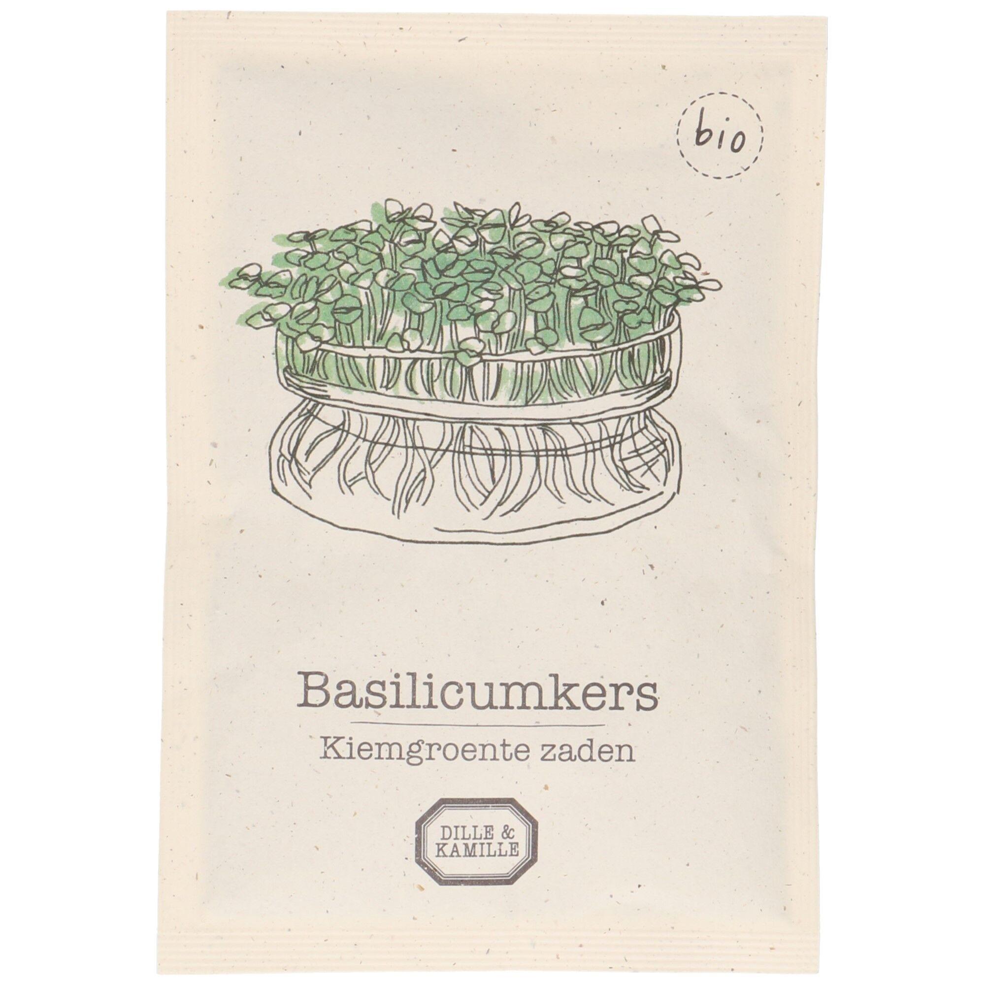 Dille&Kamille Graines germées, biologique, basilic
