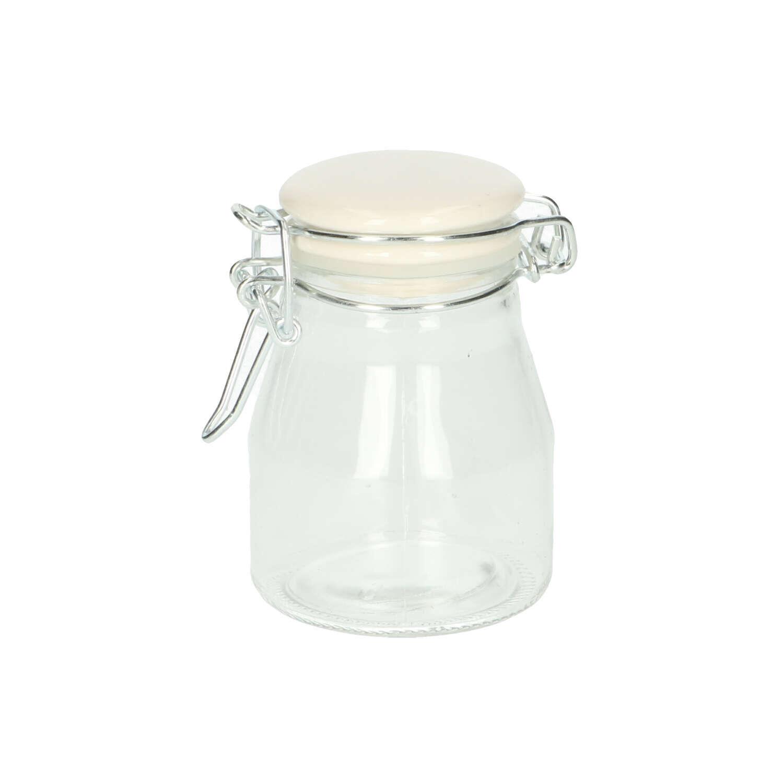 Dille&Kamille Potà fermeture hermétique, bouchon en porcelaine, verre, Ø 7 cm