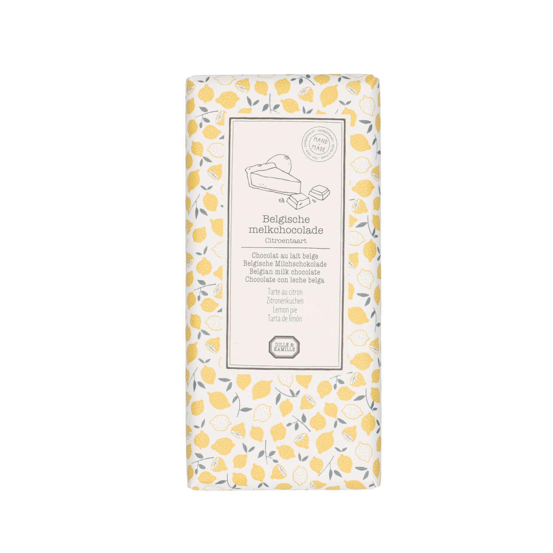 Dille&Kamille Tablette de chocolat au lait, tarte au citron, 130 g