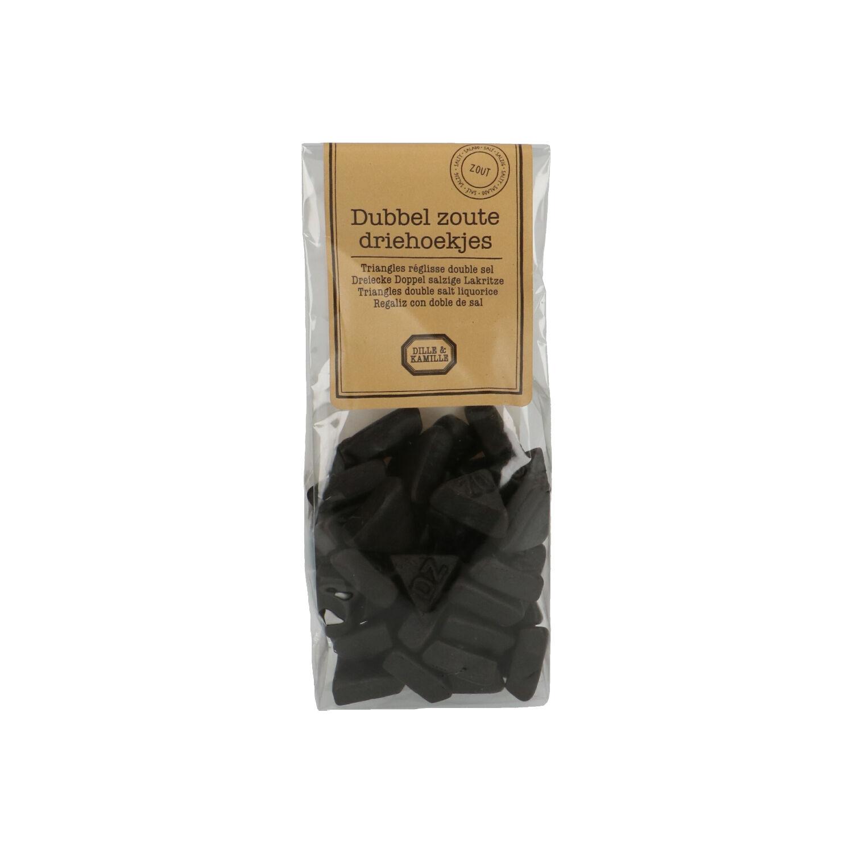 Dille&Kamille Dubbelzoute driehoekjes, 160 gram