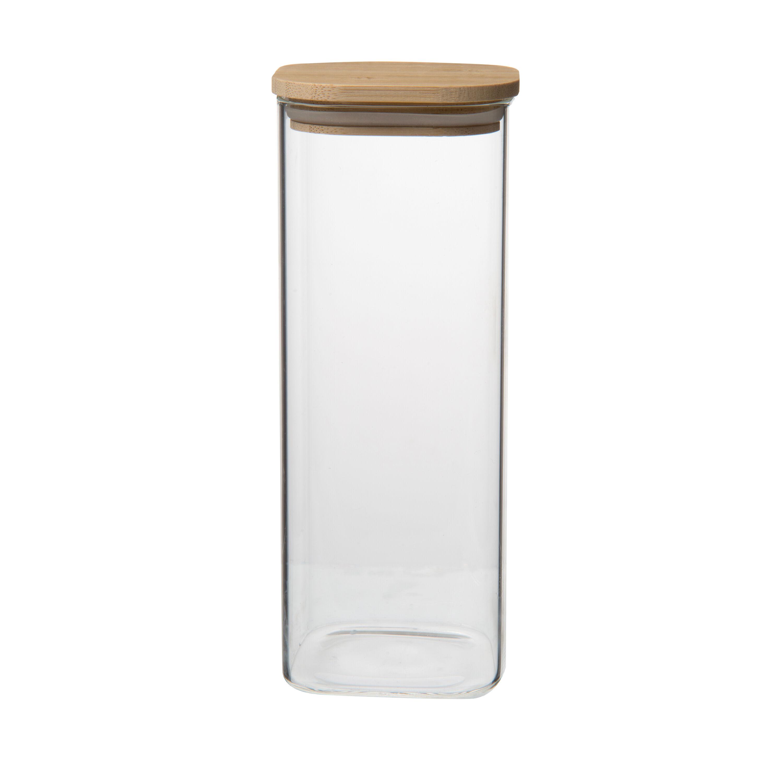 Dille&Kamille Bocal en verre carré, 980 ml
