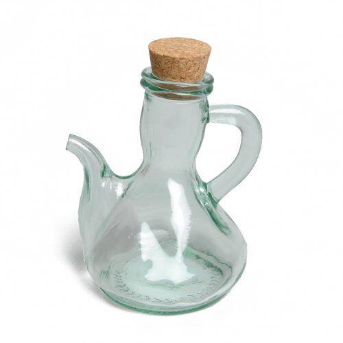 Dille&Kamille Carafe pour huile/vinaigre, verre recyclé, bouchon de liège