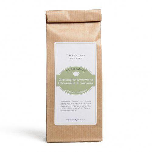 Dille&Kamille Thé vert, Citronnelle&verveine, biologique 50 grammes