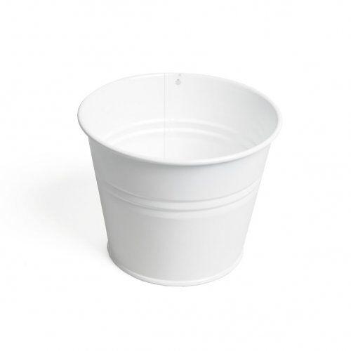 Dille&Kamille Pot de fleur, zinc, blanc,Ø 14 cm