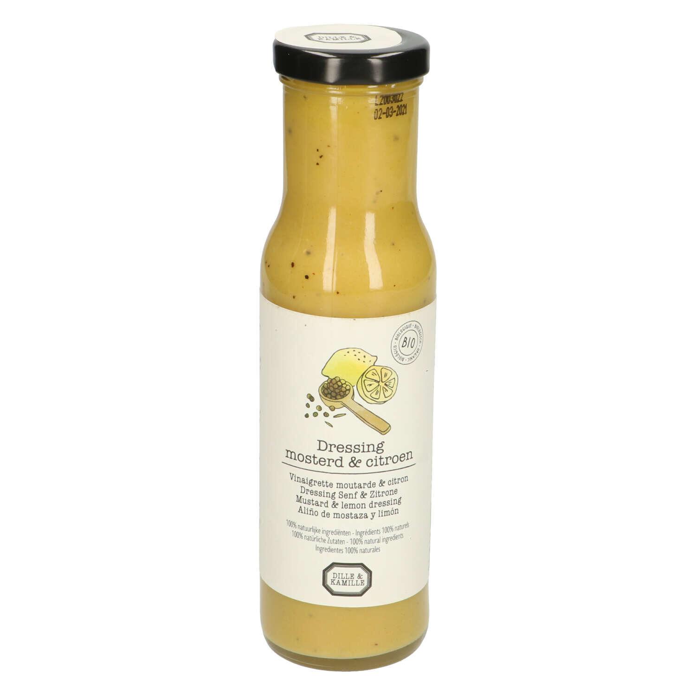 Dille&Kamille Vinaigrette, biologique, moutarde&citron, 250 ml
