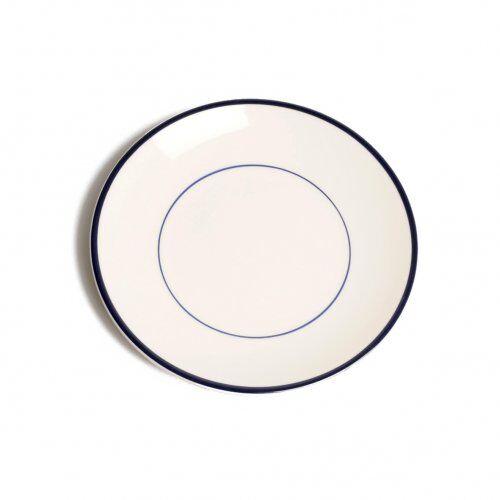 Dille&Kamille Assieteà petit-déjeuner ?Bord?, faience, bleu foncé, Ø 22 cm