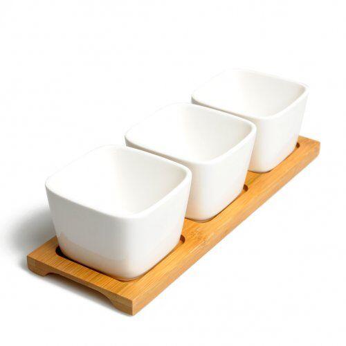Dille&Kamille Trois petits plat de service sur planche en bambou