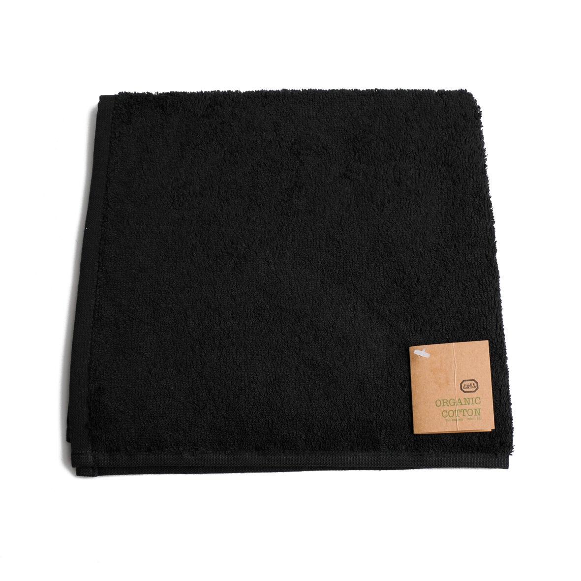 Dille&Kamille Essuie-mains, coton bio, noir,, 50 x 50 cm