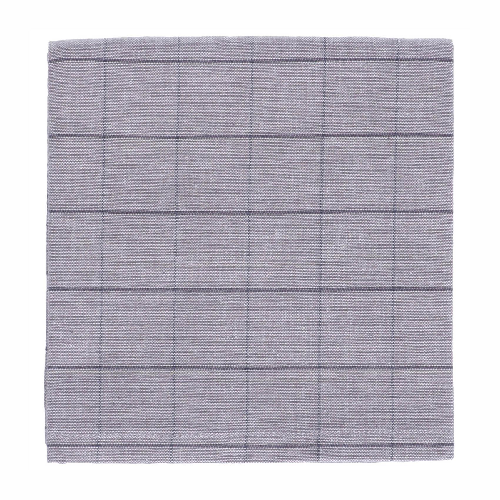 Dille&Kamille Essuie de vaiselle, coton bio, gris carreaux, 50 x 70 cm