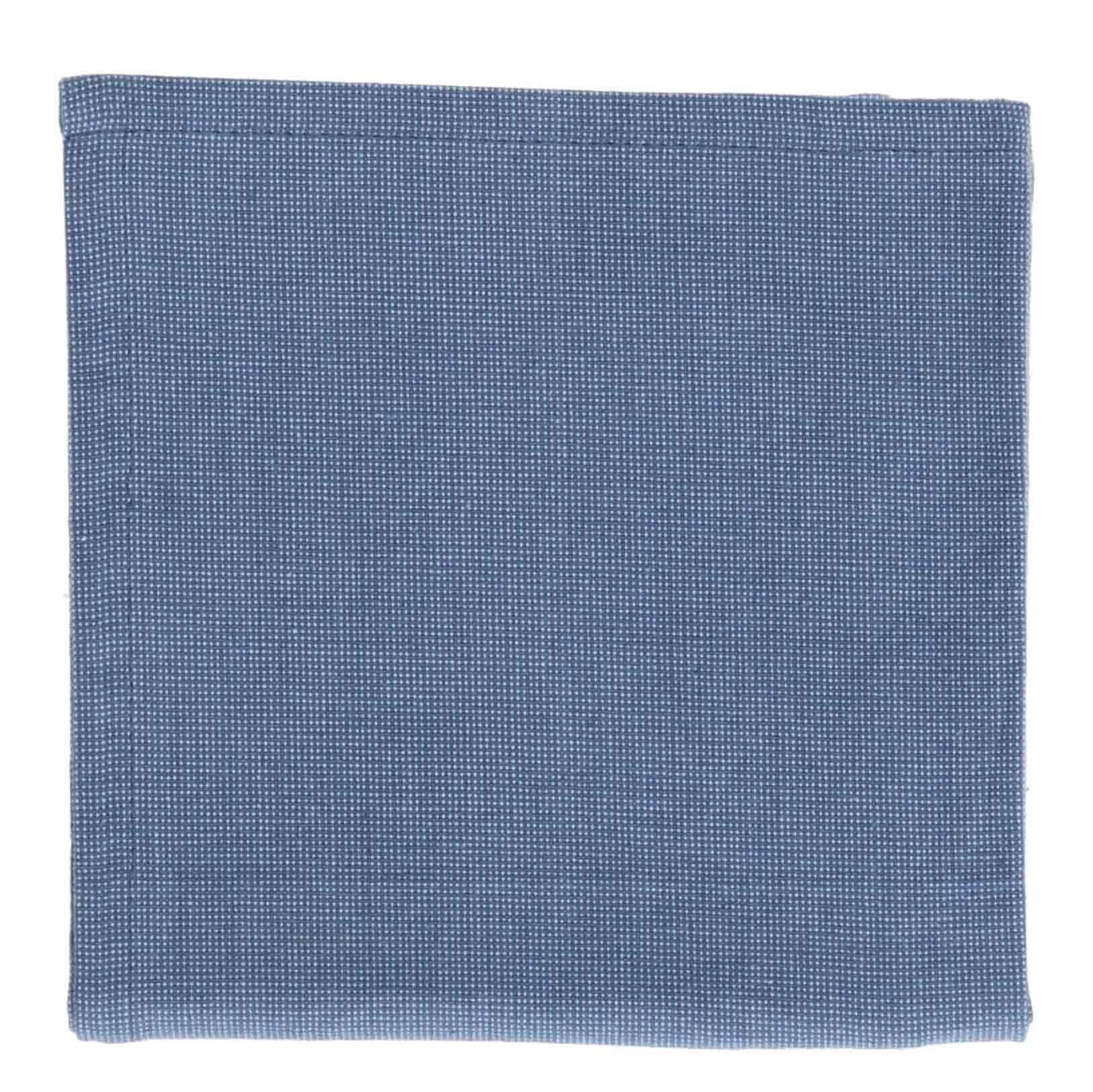 Dille&Kamille Torchon, coton bio, bleu chiné, 50 x 70 cm