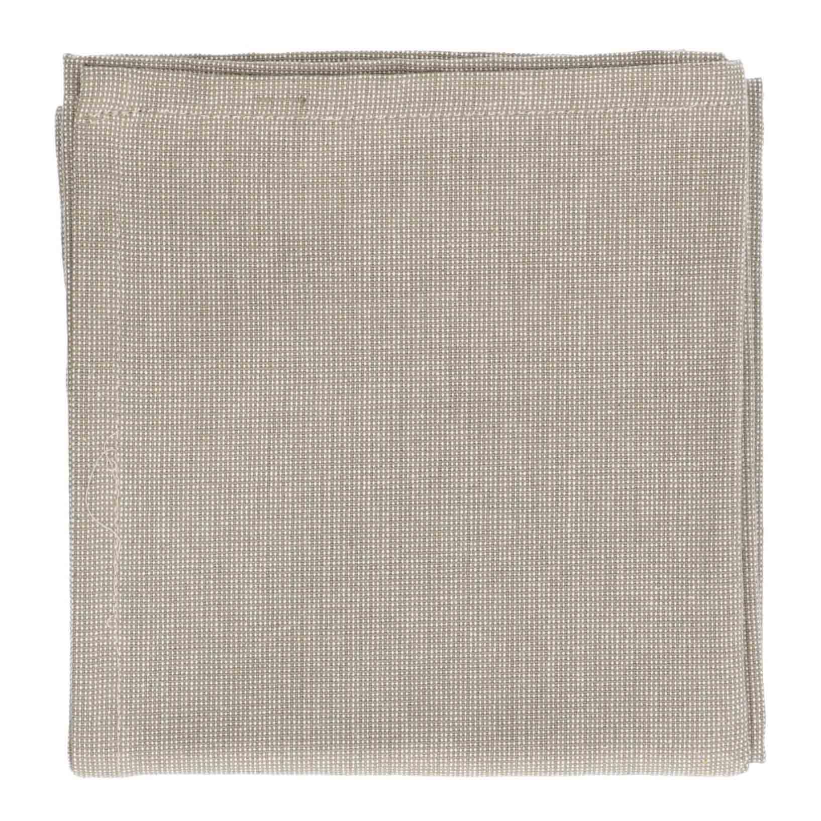 Dille&Kamille Torchon, coton bio, vert olive chiné, 50 x 70 cm
