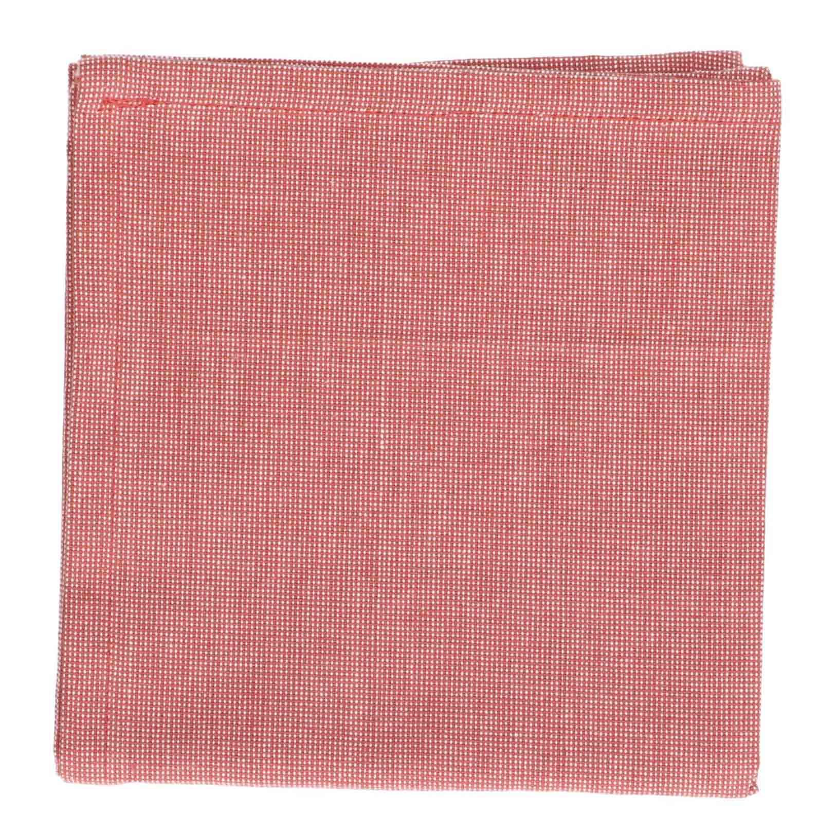 Dille&Kamille Torchon, coton bio, rose foncé chiné, 50 x 70 cm