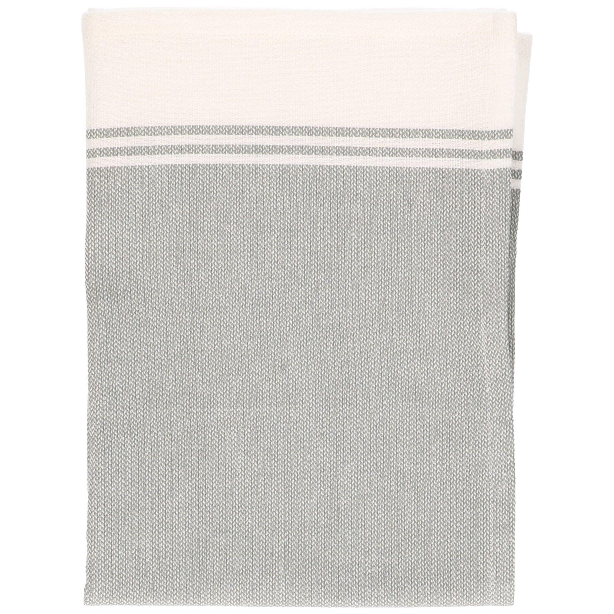 Dille&Kamille Torchon, coton bio, vert/blanc chiné, 50 x 70 cm