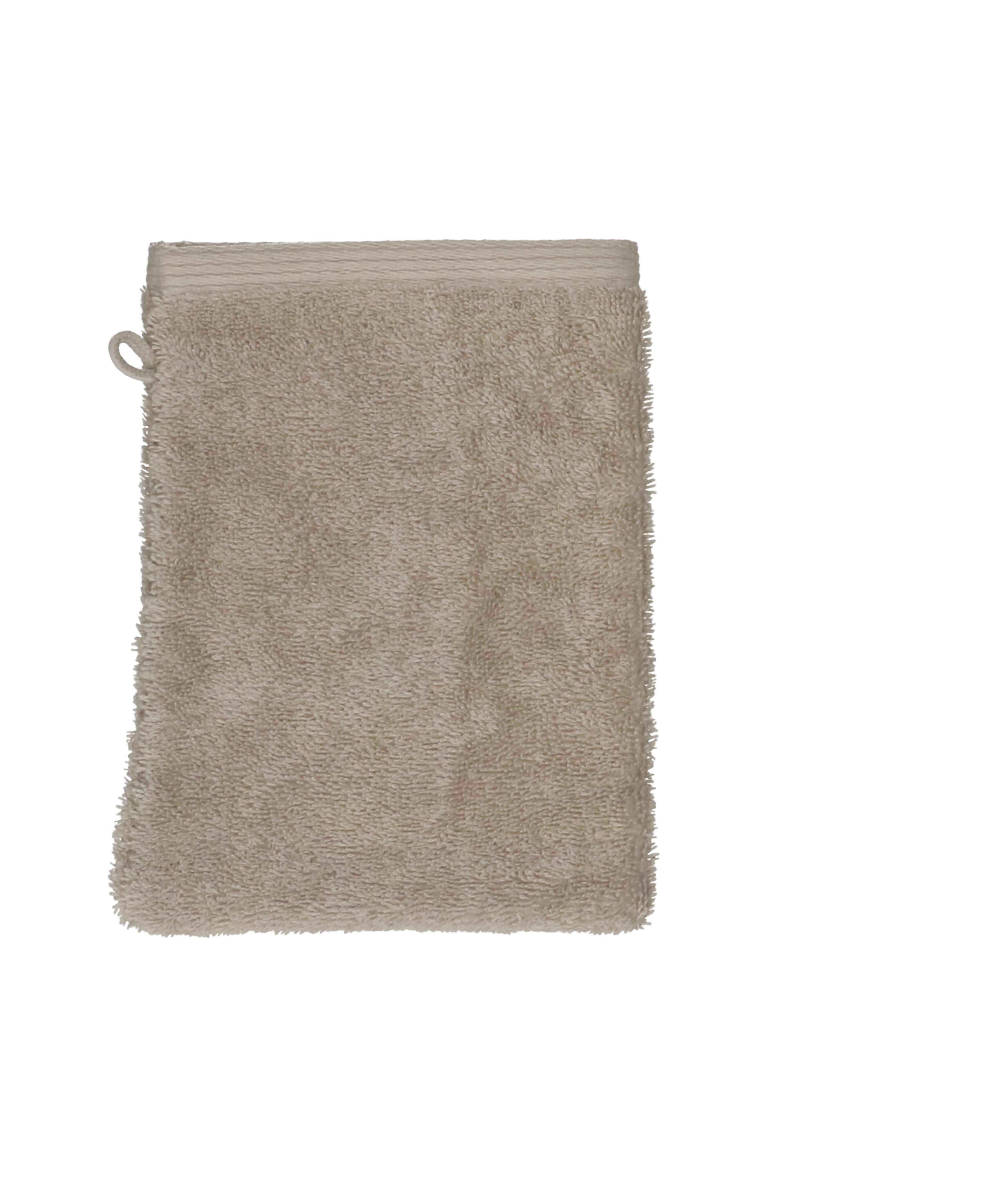 Dille&Kamille Gant de toilette, coton bio, taupe clair
