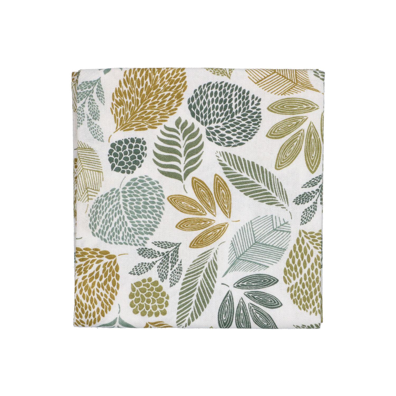Dille&Kamille Torchon, coton bio,à motif de feuilles vertes
