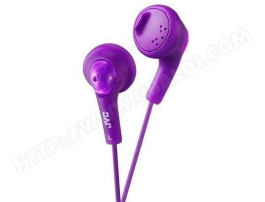 JVC Ecouteurs GUMY compatible iPhone / iPod JVC HA-F14-V-EP