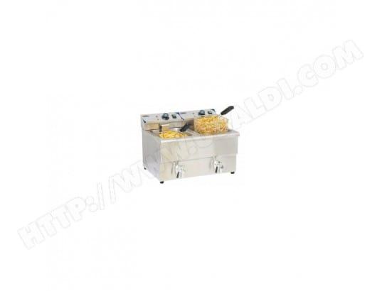 casselin friteuse électrique 2 x 8 l avec robinet de vidange